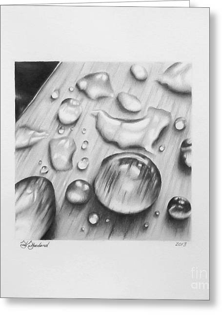 Water Droplet Temporality  Greeting Card