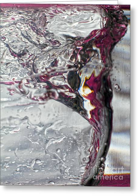 Water Drops Abstract4 Greeting Card by Stelios Kleanthous