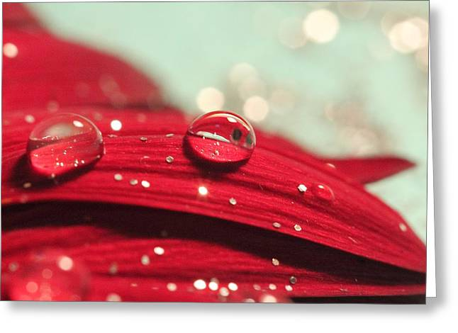 Water Drops And Glitter Greeting Card