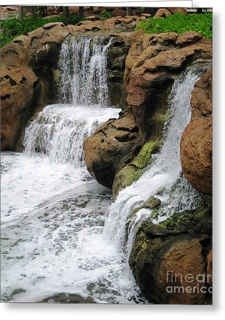 Greeting Card featuring the photograph Water Fall by Judy Palkimas