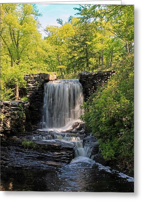 Water Fall Moore State Park 2 Greeting Card