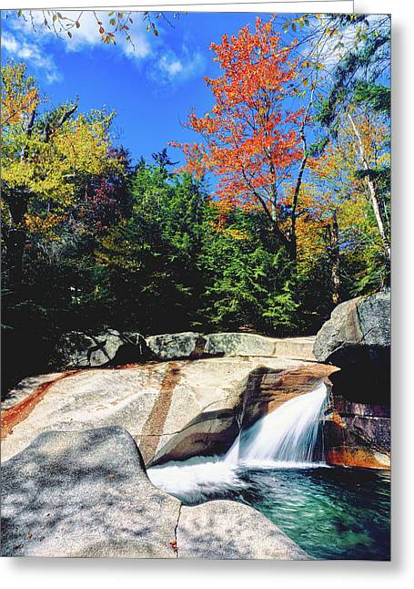 Water Falling Into A River Greeting Card