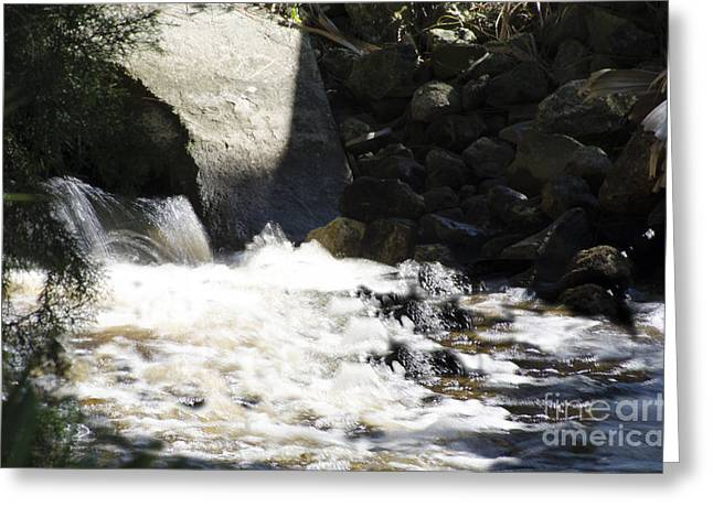 Water Flowing Greeting Card