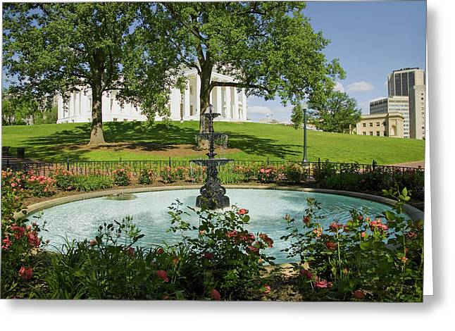 Water Fountain And Virginia State Greeting Card