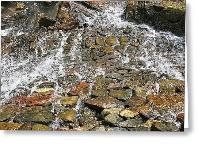 Water From A Stone Greeting Card by Bob Slitzan