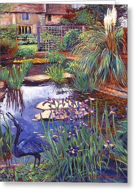 Water Garden Greeting Card by David Lloyd Glover