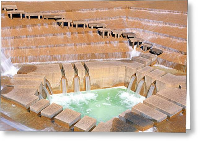 Water Garden Fountain, Fort Worth, Texas Greeting Card by Panoramic Images