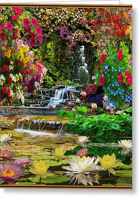 Water Gardens Greeting Card