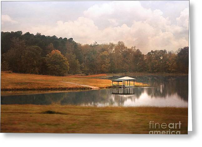 Water Gazebo Greeting Card by Jai Johnson