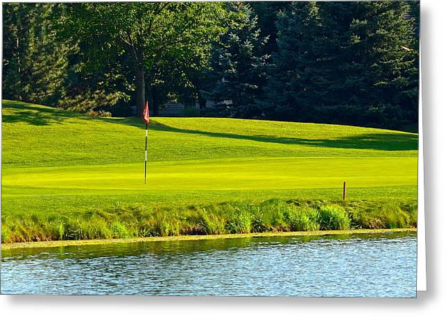 Water Hazard Greeting Card by Frozen in Time Fine Art Photography