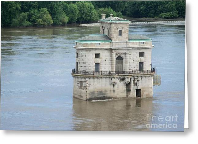 Greeting Card featuring the photograph Water House by Kelly Awad