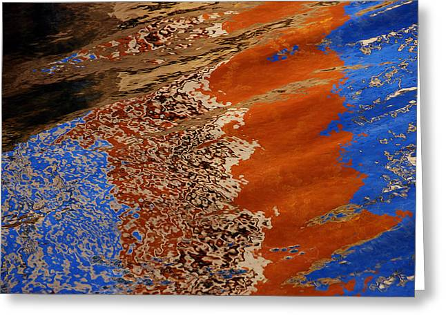 Greeting Card featuring the photograph Water Impression by Lorenzo Cassina