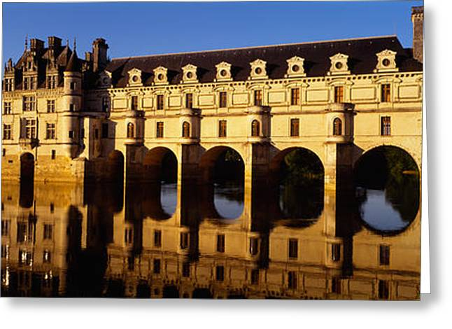 Water In Front Of The Building, Loire Greeting Card by Panoramic Images