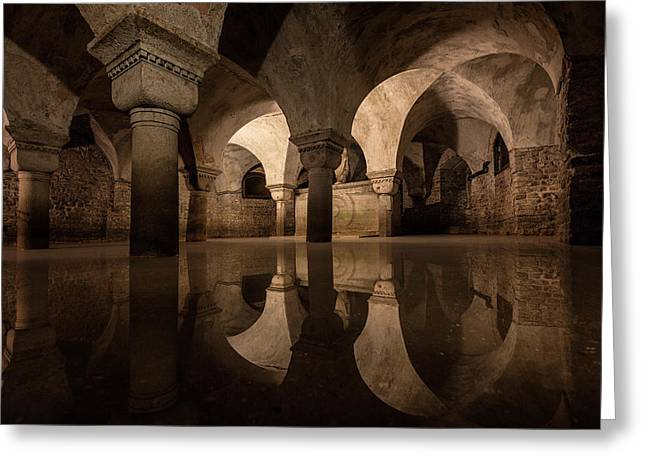 Water In The Crypt Greeting Card