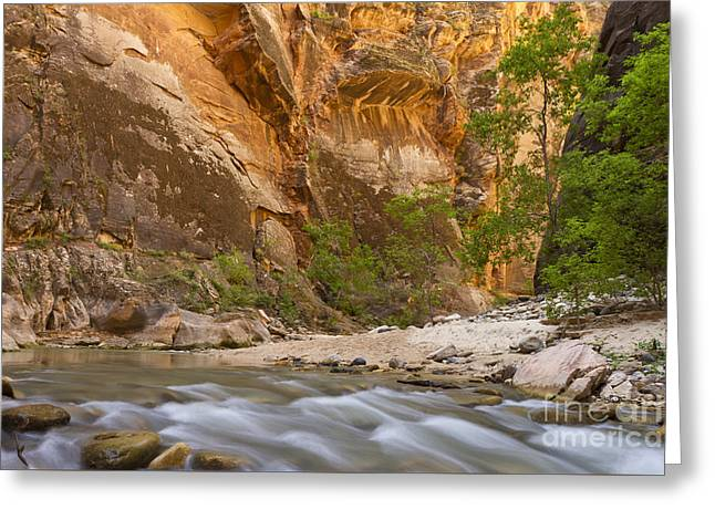 Water In The Narrows Greeting Card by Bryan Keil