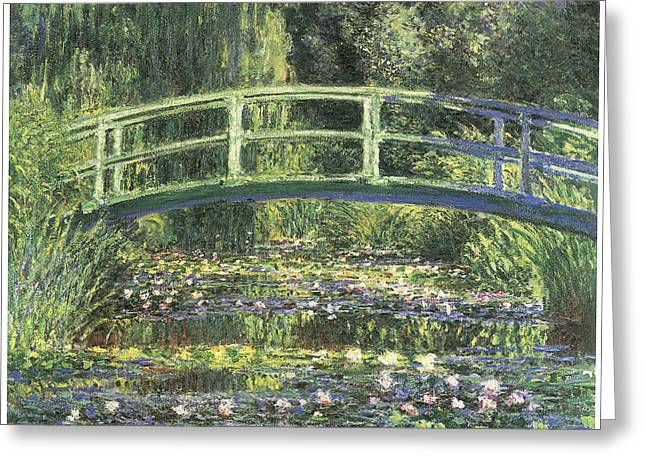 Water Lilies And Japanese Bridge Greeting Card by Claude Monet