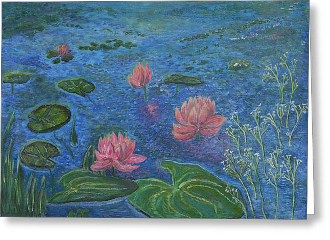 Water Lilies Lounge 2 Greeting Card by Felicia Tica
