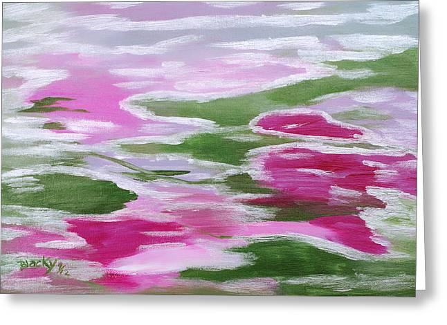 Water Lily Greeting Card by Donna Blackhall