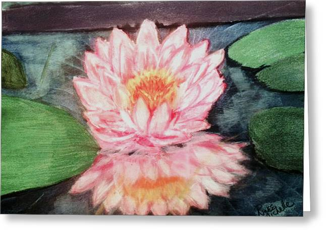 Water Lily Greeting Card by Renee Michelle Wenker