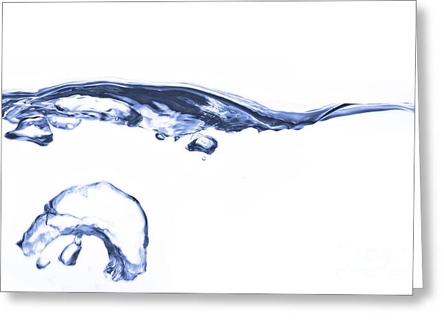 Wave - Splash Greeting Card by Michal Boubin