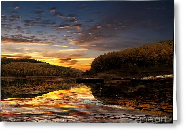 Water Greeting Card by Nigel Hatton