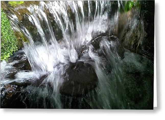 Water Noise And Light Greeting Card by Phil Nolan
