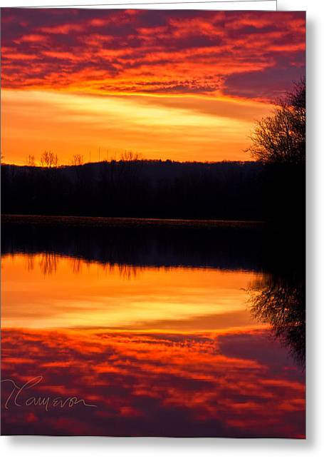Water On Fire Greeting Card