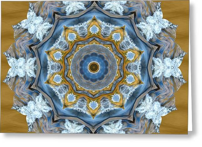 Water Patterns Kaleidoscope Greeting Card