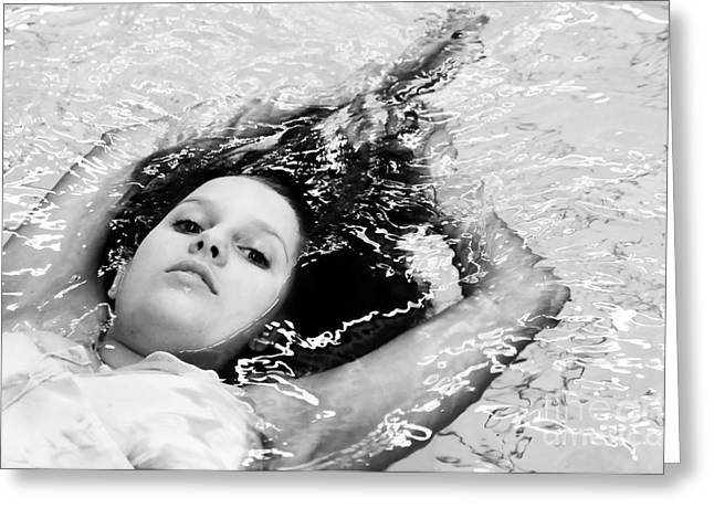 Water Portrait Greeting Card