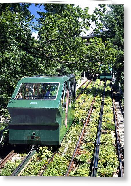 Water-powered Funicular Railway Greeting Card