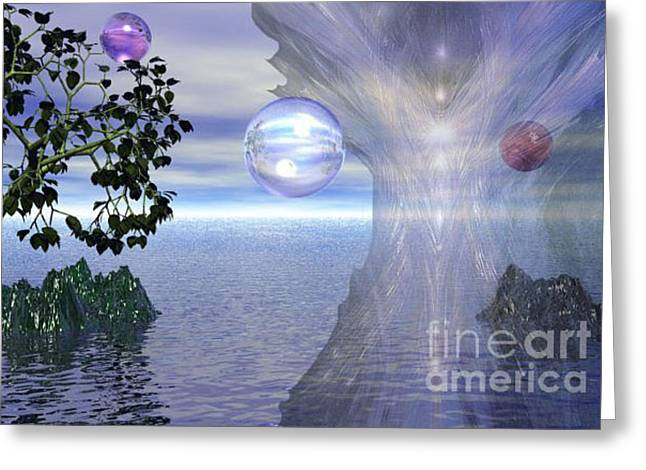 Greeting Card featuring the digital art Water Protection by Kim Prowse