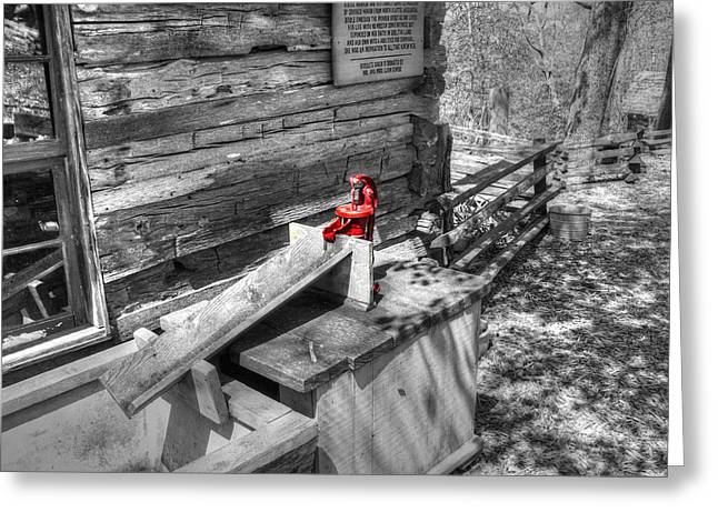 Water Pump In Nature V3 Greeting Card by John Straton