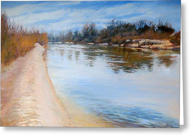 Water Reflection Greeting Card by Nancy Stutes
