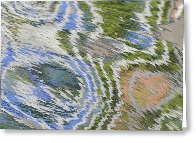 Water Ripples In Blue And Green Greeting Card