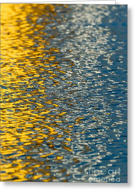 Water Ripples Greeting Card by Kelly Morvant