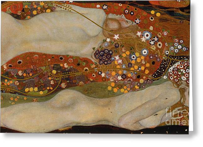 Water Serpents II Greeting Card by Gustav Klimt