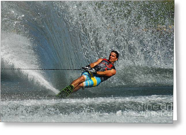 Water Skiing Magic Of Water 14 Greeting Card by Bob Christopher