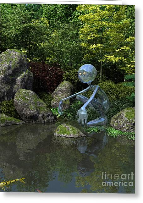 Water Spirit Greeting Card by Fairy Fantasies