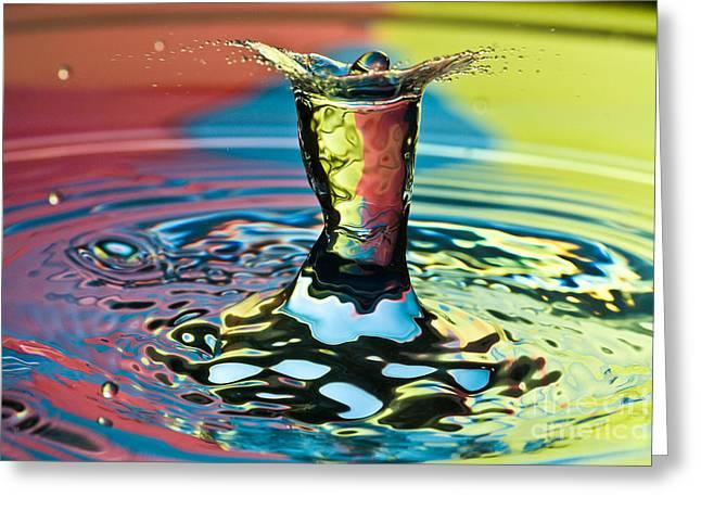 Water Splash Art Greeting Card