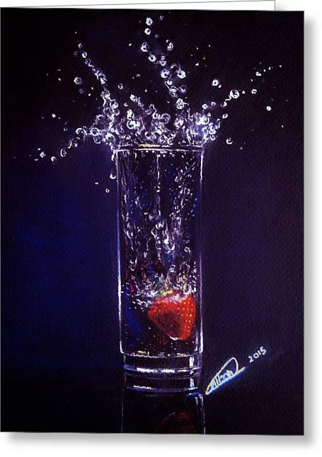 Water Splash Reflection Greeting Card