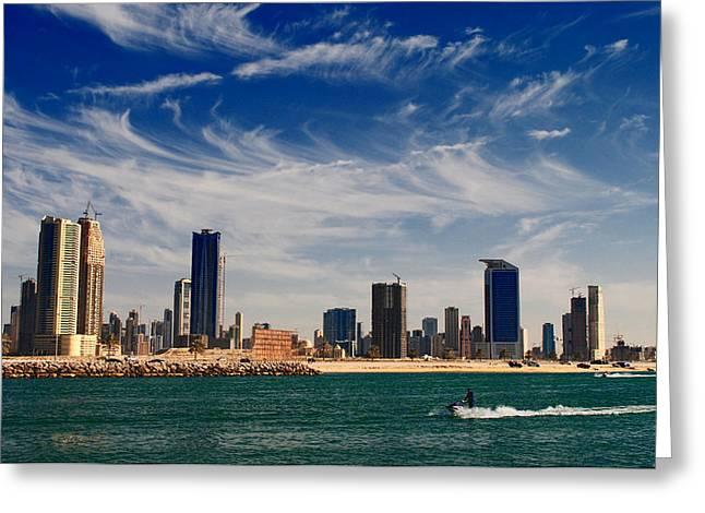 Water Sports In Dubai Greeting Card by Sanjeewa Marasinghe