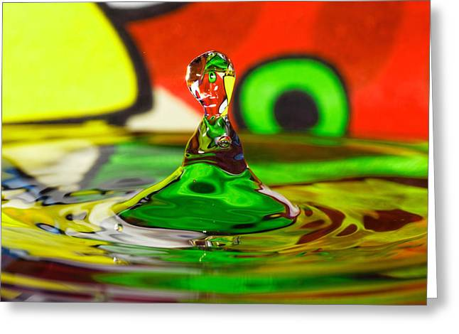 Greeting Card featuring the photograph Water Stick by Peter Lakomy