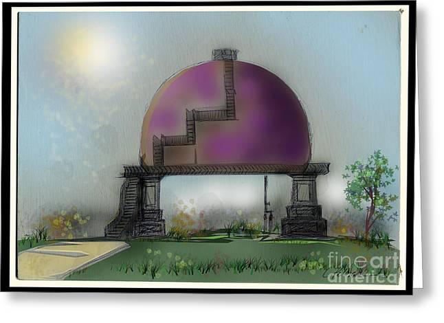 Water Tank A Purple Affair Greeting Card