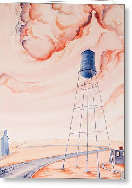 Water Tank II Greeting Card by Scott Kirby