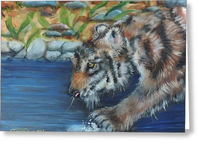 Water Tiger Greeting Card