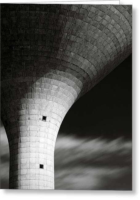 Water Tower Greeting Card by Dave Bowman