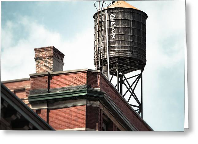 Greeting Card featuring the photograph Water Tower In New York City - New York Water Tower 13 by Gary Heller