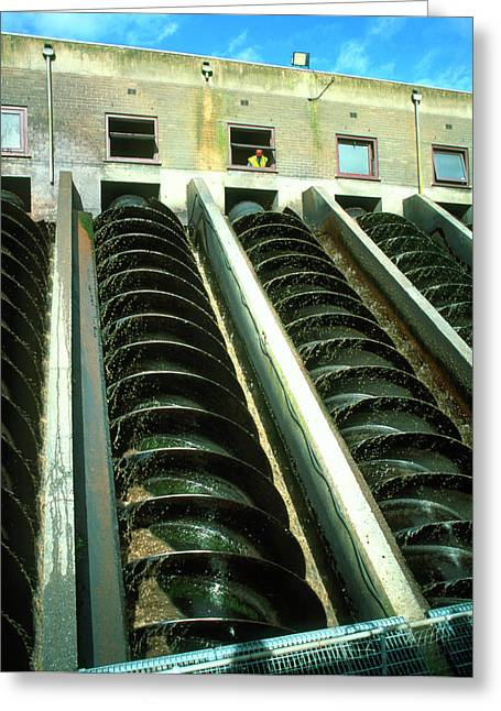 Water Treatment Plant Greeting Card by Martin Bond/science Photo Library