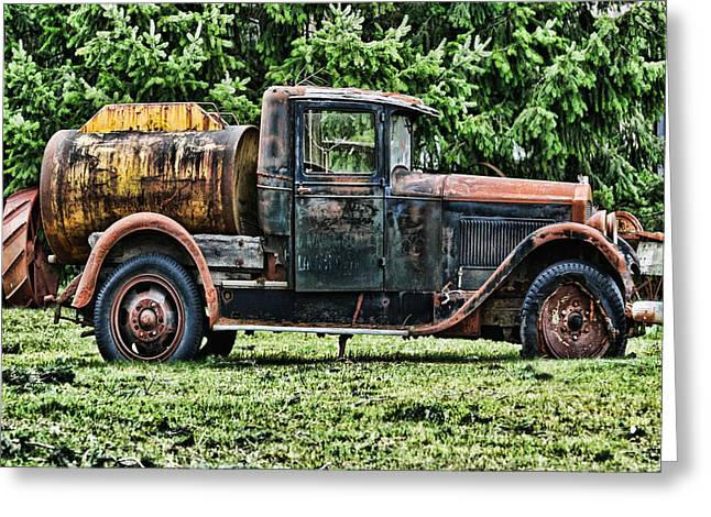 Water Truck Greeting Card by Ron Roberts