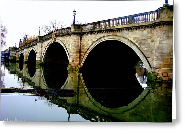 Water Under The Bridge Greeting Card by Chandrima Dhar
